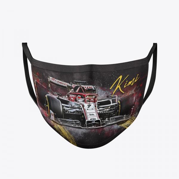Community Maske   Kimi Raikkonen   Behelfsmaske   waschbar   wiederverwendbar   Formel1 Mundschutz  