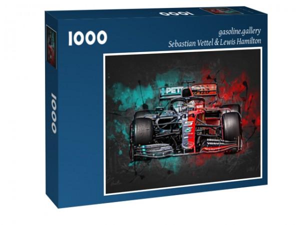 Puzzle Sebastian Vettel & Lewis Hamilton - 2019 - Formel 1