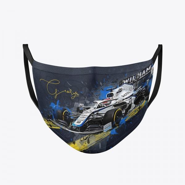 Community Maske waschbar | George Russel Behelfsmaske wiederverwendbar | Formel1 Mundschutz | Mund- Nasenschutz | Mund-Nasen-Maske