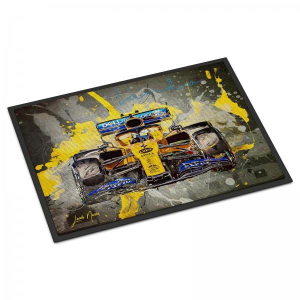 Formel 1 Fussmatte - Artwork Lando Norris - Barcelona 2019