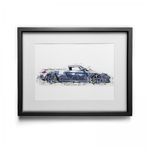 Kunstdruck gerahmt - Porsche Carrera GT - 2004