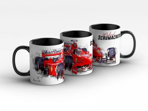 Tasse Motiv: Formel1 Michael Schumacher - Scuderia Ferrari - 1998 Front Kaffeebecher