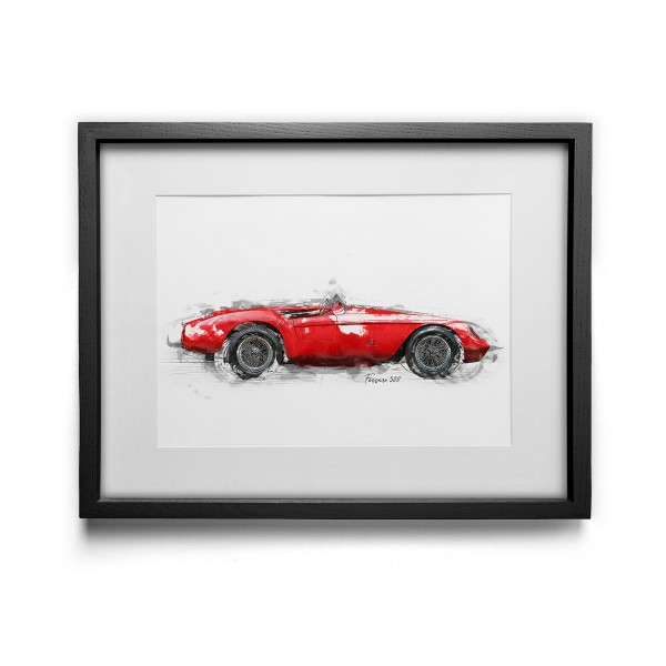 Artwork print - framed - Ferrari 500 - 1954