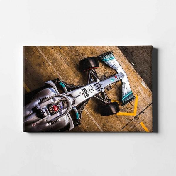 Leinwanddruck Motiv: Lewis Hamilton - Mercedes - 2019