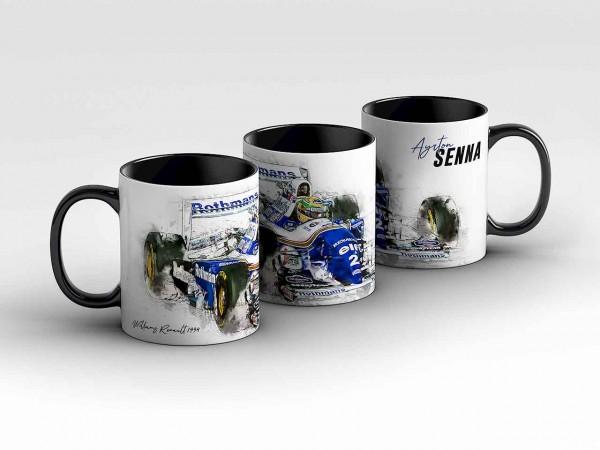 Tasse Motiv: Formel1 Ayrton Senna - Williams Renault - 1994 - Front Kaffeebecher