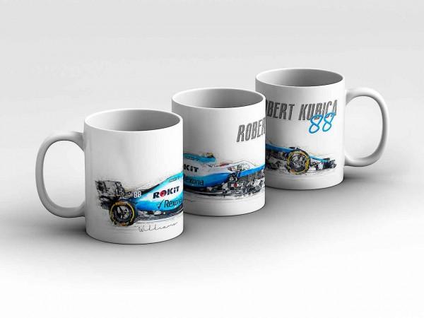 Tasse Motiv: Formel1 Robert Kubica - Rokit Williams Racing - Silhouette Kaffeebecher