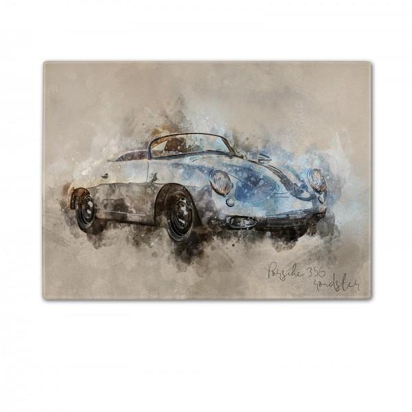 Schneidebrett Artwork Motiv: Porsche 356 roadster 1963