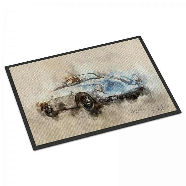 Fussmatte Artwork Motiv: Porsche 356 roadster 1963