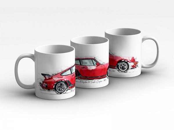 Tasse Motiv: Porsche 911 Turbo Coupe - 1987 Kaffeebecher