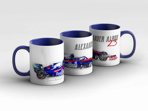 Tasse Motiv: Formel1 Alexander Albon - RB Toro Rosso Honda - Silhouette Kaffeebecher