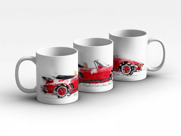 Tasse Motiv: Porsche 911 Turbo Cabrio- 1988 Kaffeebecher