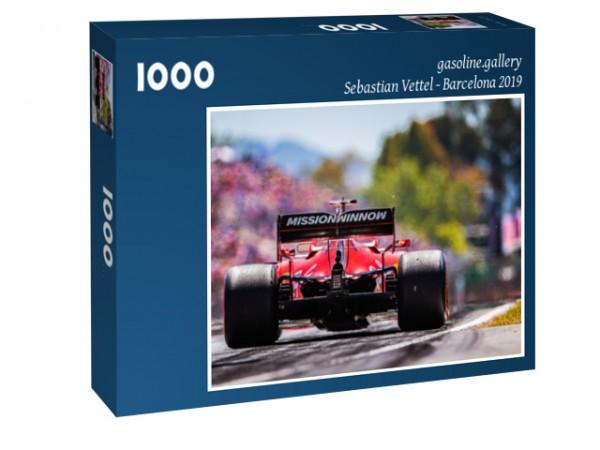 Puzzle Sebastian Vettel - Scuderia Ferrari - 2019 - Formula 1 - Back