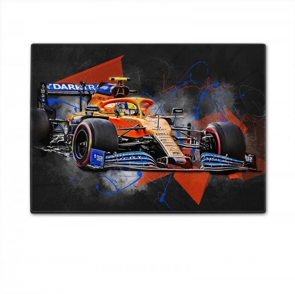 Formula 1 - Artwork cutting board - Lando Norris - 2020