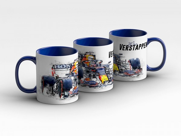 Tasse Motiv: Formel1 Max Verstappen - Red Bull Racing 2021 - Collectors Edition - Kaffeebecher