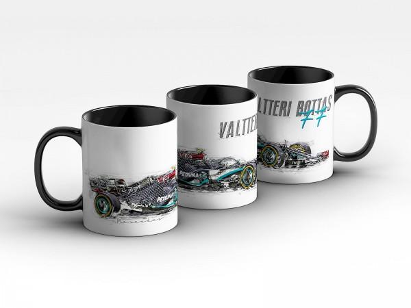 Tasse Motiv: Formel1 Valtterie Bottas - Mercedes AMG Petronas Motorsport 2020 - Silhouette Kaffeebec