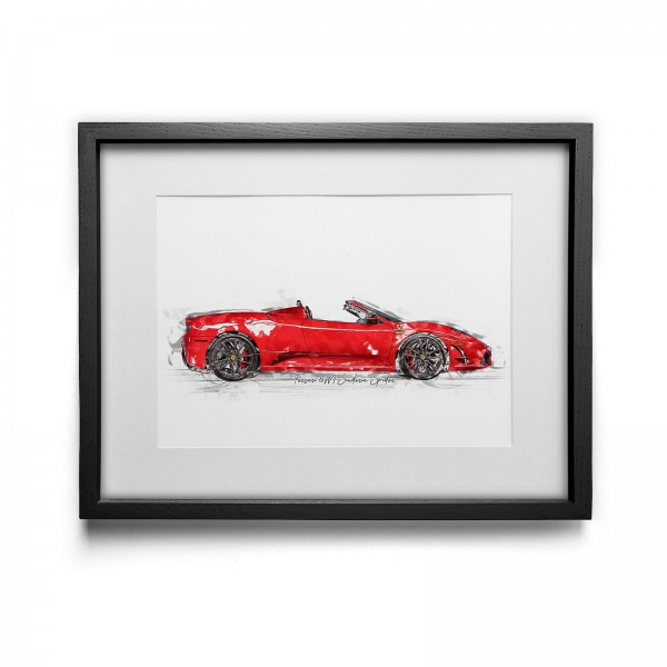 Artwork print - framed - Ferrari 16M Scuderia Spider - 2009