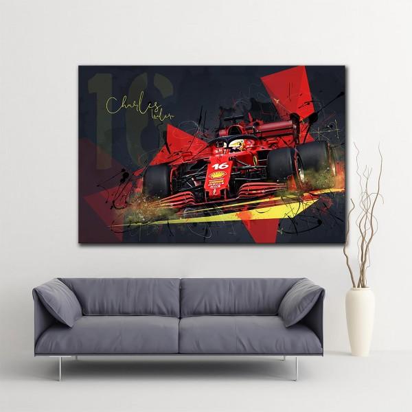 Leinwanddruck Motiv: Formel1 Charles Leclerc - Scuderia Ferrari Mission Winnow 2021