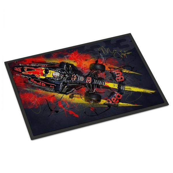 Fussmatte - Artwork Motiv: Formel1 Max Verstappen - Aston Martin - Red Bull - 2021