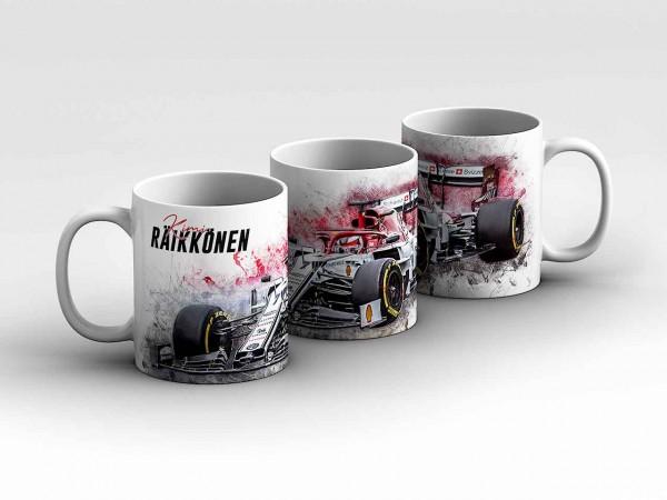 Tasse Motiv: Formel1 Kimi Räikkönen - Alfa Romeo Racing - Front Kaffeebecher