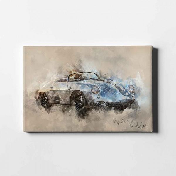 Artwork Leinwanddruck Motiv: Porsche 356 Roadster - 1963