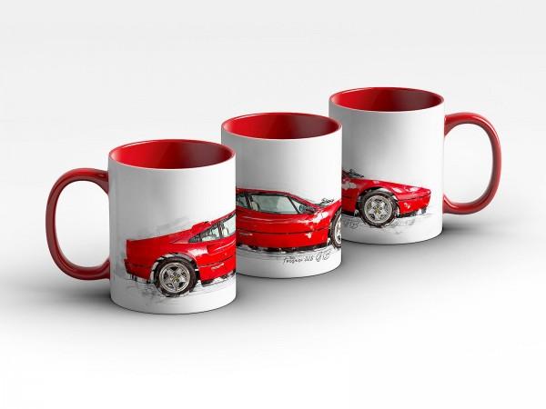 Tasse Motiv: Ferrari 328 GTB - 1989 Kaffeebecher