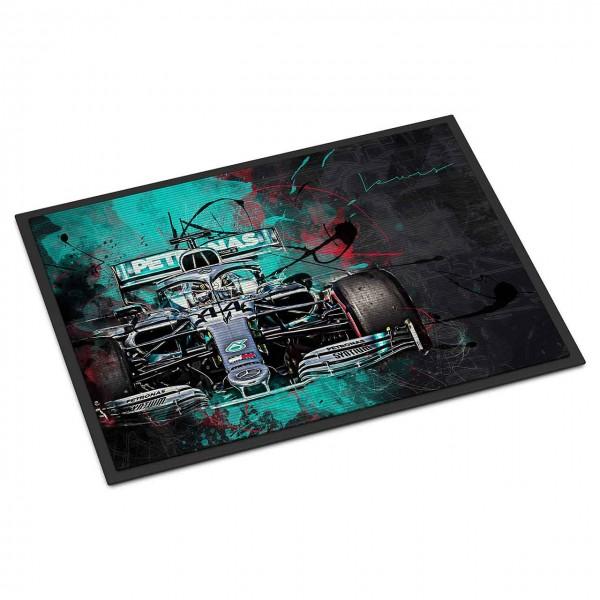 Fussmatte - Artwork Motiv: Formel1 Lewis Hamilton - Mercedes - 2019