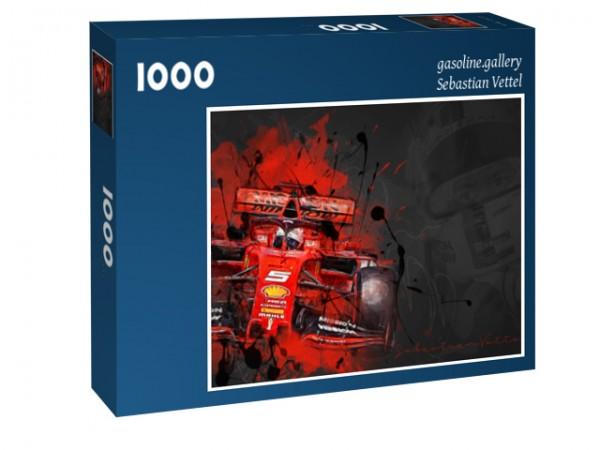 Puzzle Motiv: Sebastian Vettel - Scuderia Ferrari - 2019 - Formel 1 - Red