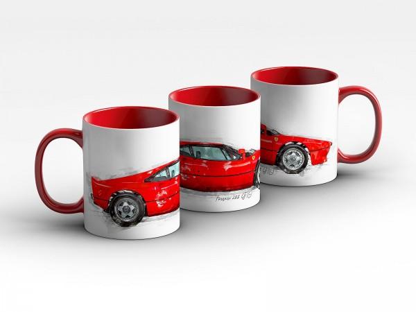 Tasse Motiv: Ferrari 288 GTO - 1984 Kaffeebecher