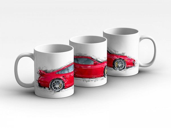 Tasse Motiv: Porsche 911 GT2 - 2008 Kaffeebecher