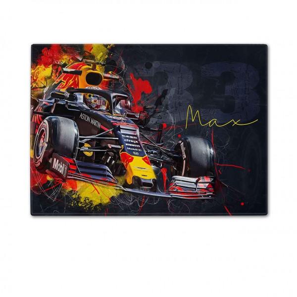 Schneidebrett Artwork Motiv: Formel1 Max Verstappen - Aston Martin - Red Bull - 2019