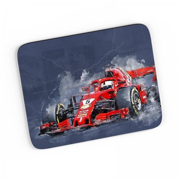 Artwork Mousepad - Formel 1 - Sebastian Vettel - Ferrari - 2018