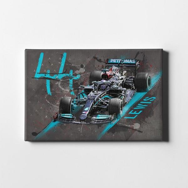 Leinwanddruck Motiv: Formel1 Lewis Hamilton - Mercedes AMG Petronas Motorsport - 2021