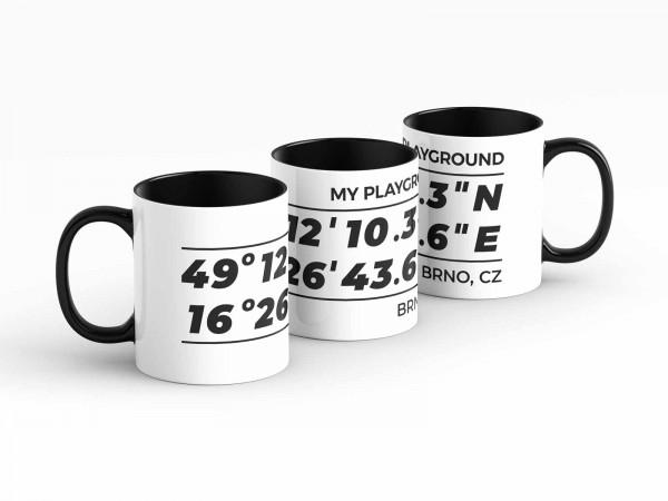 Tasse - GPS Koordinaten - Brünn - Kaffeebecher