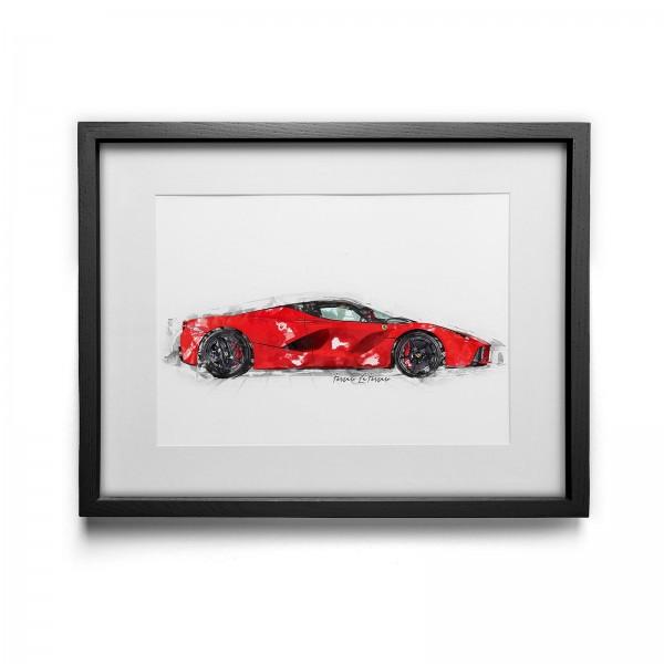 Artwork print - framed - Ferrari LaFerrari - 2014