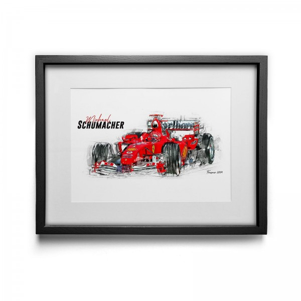 Kunstdruck gerahmt - Michael Schumacher - Scuderia Ferrari - 2004