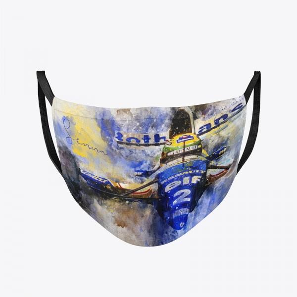 Community Maske | Ayrton Senna | Behelfsmaske | waschbar | wiederverwendbar | Formel1 Mundschutz | M