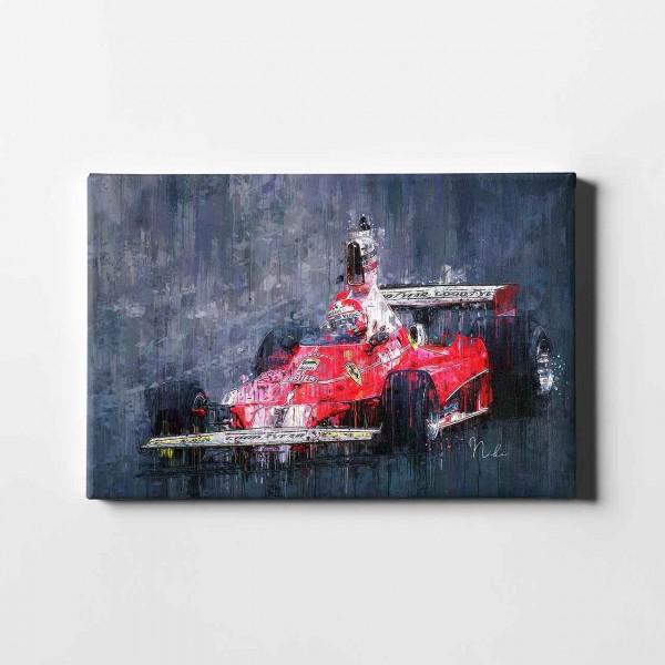 Leinwanddruck - Niki Lauda - Ferrari - 1975