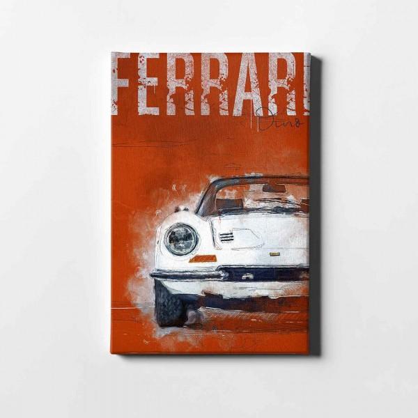 Artwork Leinwanddruck Ferrari 346 GT red