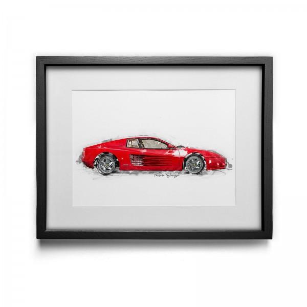 Kunstdruck mit Rahmen Motiv: Ferrari F512 M - 1995