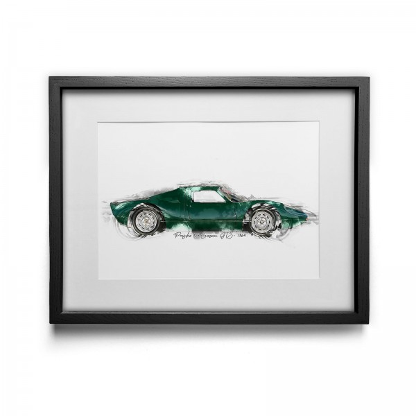 Artwork Print - framed - Porsche 904 Carrera GTS - 1964
