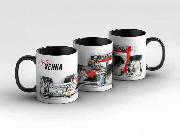 Tasse Motiv: Formel1 Ayrton Senna - Mc Laren Hoda - 1988 - Silhouette Kaffeebecher