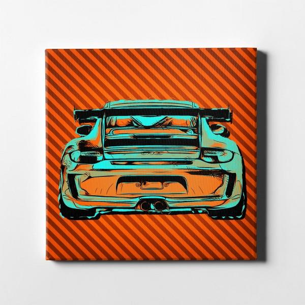 Artwork Leinwanddruck - Porsche 911 GT3 RS