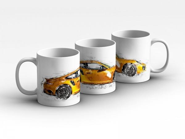 Tasse Motiv: Porsche 911 Turbo S - 2018 Kaffeebecher