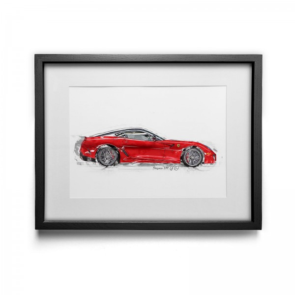 Artwork print - framed - Ferrari 599 GTO - 2011