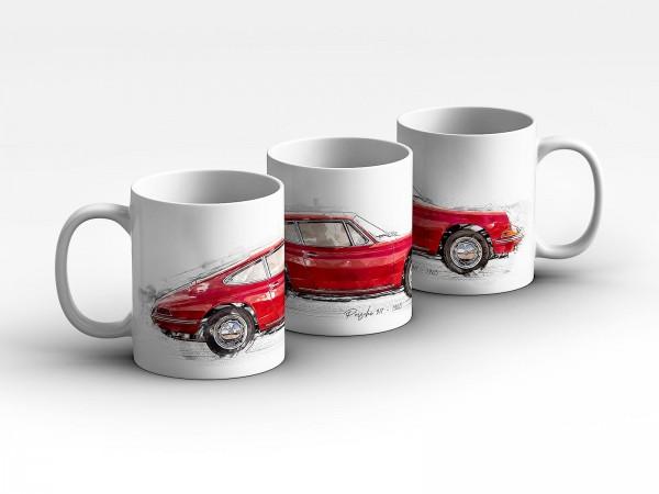 Tasse Motiv: Porsche 911 - 1965 Kaffeebecher