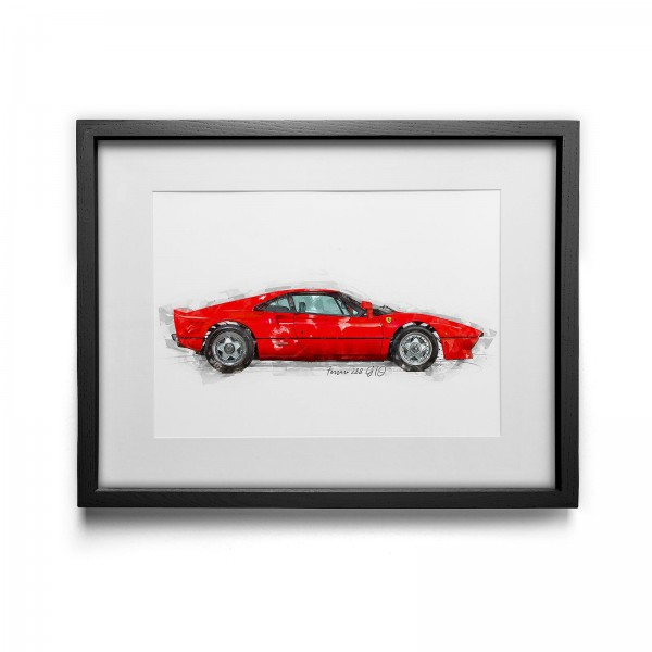 Artwork print - framed - Ferrari 288 GTO - 1984