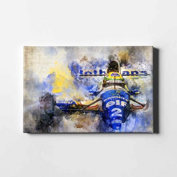 Artwork Leinwanddruck Motiv: Ayrton Senna - Williams Renault - 1994