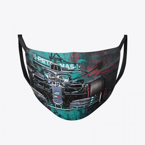 Community Maske waschbar | Lewis Hamilton Behelfsmaske | wiederverwendbar | Formel1 Mundschutz | Mund- Nasenschutz | Mund-Nasen-Maske