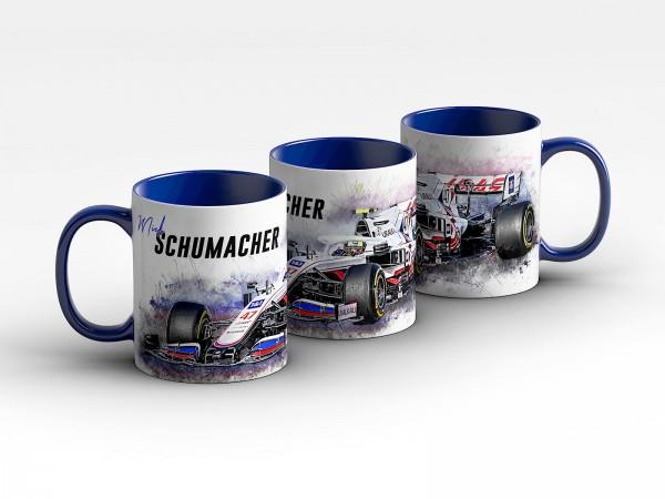Formel 1 Tasse - Mick Schumacher - Haas F1 Team - 2021 Front Kaffeebecher