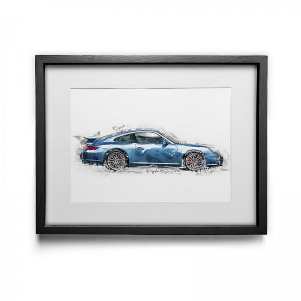 Artwork Print - framed - Porsche 911 S - 2006